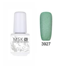 Wholesale matte led gel - Wholesale- MSK Gel polish 48 color matte Velvet soak off uv led gel nail polish nail art 5ml 3927