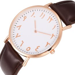 Wholesale Personality Glasses For Women - fashion unisex women mens personality numbers no second leather watch 2017 new wholesale ladies quartz wrist watches for men