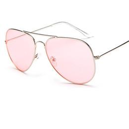 Wholesale Beach Sunglasses Aviator - women Metal Frame aviator sunglasses men luxury brand sun glasses oculos de solo UV400 Y49