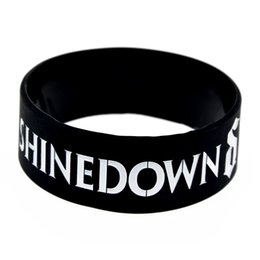 Wholesale Rock Wristbands - Hot Sell 1PC Shinedown Silicone Wristband Alternative Metal and Hard Rock Style, Perfect Gift for Music Fans