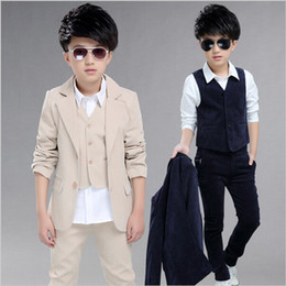 Wholesale Kids Suits For Weddings - Boys 3Pieces Suits For Weddings Kids Prom Suits Wedding Clothes for Boys Children Clothing Sets Boy Classic Costume Boys Dresses