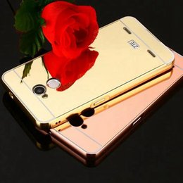 Wholesale Aluminum Metal Blade - For ZTE A2 Case Luxury Gold Plating Armor Aluminum Frame + Mirror Acrylic Case For ZTE Blade A 2 Phone Back Cover
