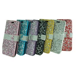 Wholesale holster sales - Rhinestone Holster wallet case For Coolpad Defiant 3632 LG K10 2017 Aristo Tribute HD Stylo3 High quality Cases Hot Sale Products