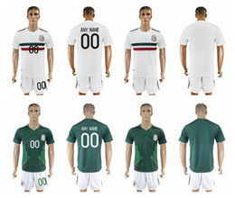 Wholesale Wholesale Short Jerseys - 2017 18 Mexico Soccer Jerseys With Short CHICHARITO Home Green Soccer Set G.DOS SANTOS R.MARQUEZ thailand quality Mexico soccer Jersey
