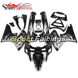 Wholesale Zzr Cowling - Injection Fairings For Kawasaki ZZR600 ZZR-400 1993 - 2007 ABS Plastic Complete Motorcycle Fairing Kits Cowling Black Silver Flame