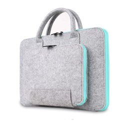 Wholesale Laptop Cases For Macbook Pro - 2017 New Felt Universal Laptop Bag Notebook Case Briefcase Handlebag Pouch For Macbook Air Pro Retina Men Women