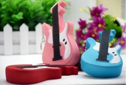 Wholesale Guitar Kid - Guitar Squishy Slow Rising 13.5CM Jumbo Cute Straps Straps Sweet Cream Charms Kawaii Pendant Bread Kids Toy Gift