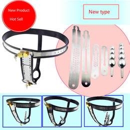 Wholesale New Type Chastity - 4 Kind Free Combination Stainless Steel Female Underwear Chastity Belt,T-type Chastity lock,Virginity pants,Adult Game,CPA183-New