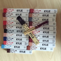 Wholesale 22 Wholesale - In stock 22 colors Kylie Lip Kit by kylie jenner Velvetine Liquid Matte Lipstick Lip 22 color High-quality free shipping