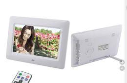 Wholesale Tft Lcd Photo Frame - 20 pcs per lot 7 inch TFT LCD Multi-function Wide Screen Desktop Digital Photo Frame Photo Frame white black