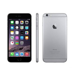 Wholesale Iphone Quad - Authentic Refurbished iPhone 6 4.7inch 1GB RAM 16GB 64GB 128GB ROM 8MP camera iphone6 4G LTE fingerprint Unlocked Cell Phone