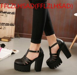 Wholesale Sandals Woman Shoes China - New Hot Good Ok Hot Selling 2017 New Summer Fashion High Platform Sandals Women Casual Ladies Shoes China Black White Size EUR 35 to 40