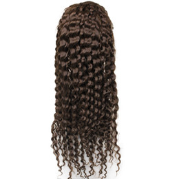 "Wholesale Deep Lace Wigs - Full lace wigs Brazilian Deep wave wigs Hair #1 #1B #2 #4 130% human hair Front lace wig for african Women 10""-30"""