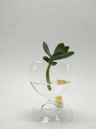 Wholesale Heart Flower Vase - Glass vase, Glass heart-shaped flower D; 12 cm H:14CM