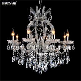 Lampadario di cristallo chiaro di maria theresa online-Maria Theresa Clear Crystal Crystal Chandelier Light LED Crystal Lustre Light per Lobby Stair Progetto di corridoio MD8475