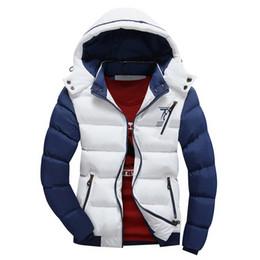 Wholesale White Slim Fit Parka - Wholesale- 2016 Fashion Ultralight Spring Winter Warm Jacket Men Cotton Brand Clothing Thick Zipper Slim Men's Jackets Parkas Designer Fit