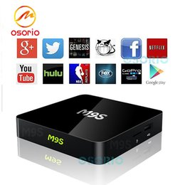Wholesale Full Solutions - 1 PCS M9S Android TV Box Amlogic S905X 1GB 8GB Home Streaming Solution HDMI2.0 4K Wifi Mini PC Android Boxes