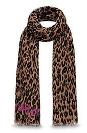 Wholesale Red Leopard Print Satin - LEOPARD STOLE M72215 LEOPARD STEPHEN SPROUSE SCARF SHAWL BLUE 180*70cm