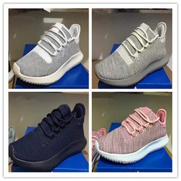 Wholesale Body Shadow - Wholesale 2017 Mens Womens Originals Tubular Shadow Knit Core Black White Cardboard Sneakers Running Shoes 350 boost 3D Sneakers 5-11