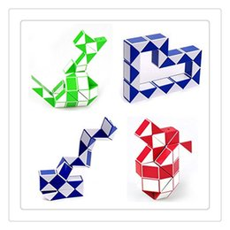 Wholesale Mini Toy Snakes - Mini Magic Cube Creative Snake Shape Toys Games 3D Cube Puzzle Twist Puzzles Toy Games Random Intelligence Best Gift Kids Toys Free Shipping