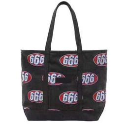 Bolso de mezclilla negro online-17ss Sup 666 Denim bolso de mano bolso de moda de alta capacidad hombres mujeres negro Khaki Cowboy bolso de mano HFBB022