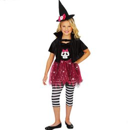 halloween costume for girl children dance costumes witch suit hat kids party dresses christmas costume fancy dress new fashion