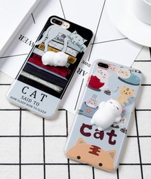 Wholesale Silicone Cases For Iphone China - For iPhone 6 6S 3D Lovely Soft Squishy Silcone Sleep Cat China Panda Seal Silicon Cover Cases for iphone 6 6S 4.7 inch Coque