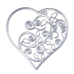 Wholesale Heart Die Cut - Metal Hollow Out Heart Cutting Dies Stencils DIY Scrapbooking Decorative Embossing Folder Suit Paper Cards Die Cutting Template