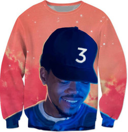 Wholesale Popular Women Clothing - Wholesale- Popular chance the rapper 3 Sweatshirt Red Space Crewneck Casual Fashion Clothing Hoodies Outerwear Jumper Tees
