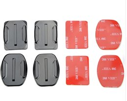 Wholesale Adhesive Mount For Gopro - For Gopro Accessories Set Flat Curved 3M Adhesive Mount for Gopro Hero 4 3 2 1 Xiaomi Yi SJCAM SJ4000 SJ5000 SJ7000