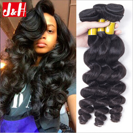 Wholesale Discount Human Wavy Hair - Best selling!8A discount Best hair loose wave human hair extensions 3 or 4 bundles lot unprocessed loose curls malaysian loose wavy for sale