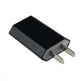 Wholesale 5v 1a Ac Adapter - USB adapter US EU Plug wall chager 5V 1A 1000hm USB Power Travel Adapter AC Wall Charger for e cig mobile phone