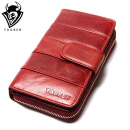 Wholesale Import Photos - Wholesale- 2017 New Style Layer Of Import Oil Wax Cowhide Medium Paragraph Buckle Leather Wallet Women's High Quality Purse