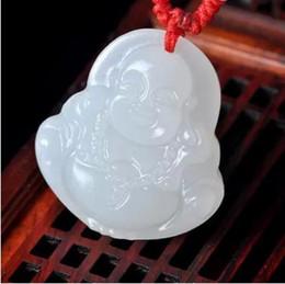 Wholesale Silver Jade Buddha Pendants - Pendant Natural Afghan White Buddha Pendant