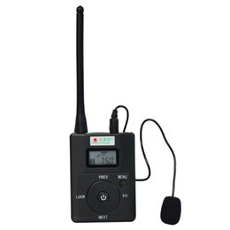 Wholesale Mhz Transmitter - Wholesale-Portable Radio FM Transmitter 0.2W for FM Stereo Radio Broadcast Adjustable Frequency 60-108 MHz Y4189H