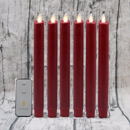 Wholesale Home Moving - 6pcs Luminara Moving Wick Flameless Taper Dinner Led Candle with remote control