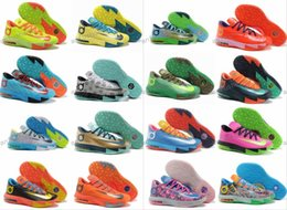 Wholesale Kevin Durant Low Tops - 2017 Hot Sale Kevin KD 6 VI Elite Mens Basketball Shoes What the Durant Aunt Pearl BHM All Star Top quality Sneakers Eur 40-46 Size us 7-12