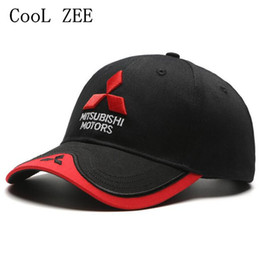 Wholesale 3d Hat Letters - Wholesale- CooL ZEE 2017 NEW 3D Mitsubishi hat cap car logo moto gp moto racing baseball cap hat adjustable casual trucket hat