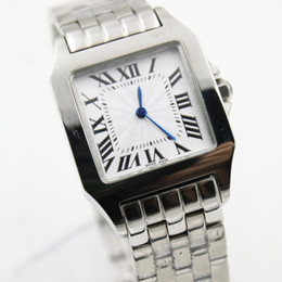 Wholesale Cheap Watches Silver Women - 2017 2017 New ladys Gift Santox Square womens Watch white face Stainless steel luxury quartz Skeleton Cheap Sale top quality women watch 30M