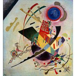 modernen abstrakten kunstmalereien kreise Rabatt Abstrakte moderne Kunst Blue Circle-Wassily Kandinsky Ölgemälde Leinwand handbemalt