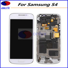 Wholesale Display Screen Galaxy S4 - Free Shipping Original LCD For Samsung Galaxy S4 i9500 i9506 i337 545 LCD Display Touch Screen Assembly Digitizer With Frame