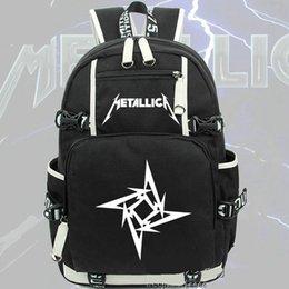 Wholesale Rock Fashion Boy - Metallica backpack James Hetfield daypack Metal rock schoolbag Music rucksack Sport school bag Outdoor day pack