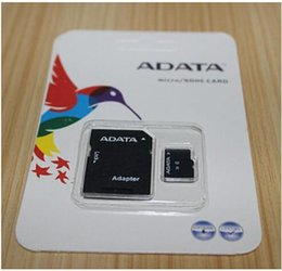Wholesale 32gb Micro Sd Card Adapter - 20pcs Real ADATA 2GB 4GB 8GB 16GB 32GB 64GB Class10 Micro SD TF Memory SDHC Card SD Adapter Retail Package