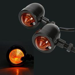 motocicleta de indicadores de bala Desconto Aço Universal Bullet Motocicleta LED Turn Signal Indicator Âmbar Blinker Luz