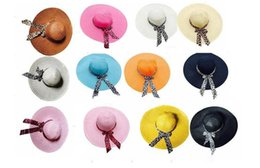 Wholesale Wide Hats - Women hat straw beach hats lady straw hats women's caps fashion wide brim lady sunhat 18 colors available mix colors
