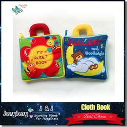 Wholesale Educational Cloth Books - 3M+ Baby Quiet Book Mobile Lullaby Cloth Book Soft Plush Good Night Early Educational Toys Infant Colorful Animals Cartoon Book