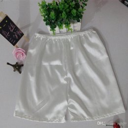 Wholesale Silk Safety Pants - Factory direct summer new fashion women's silk three point pants anti exposed safety pants satin casual shorts short silk leggings
