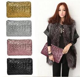 Wholesale Wholesale Beaded Purses Handbags - 2016 fashion Dazzling Sequins Women Ladies Sparkling Bling Sequin Clutch Purse Evening Party Handbag Bag Glitter Spangle Day free DHL