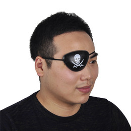 Wholesale Masquerade Halloween Costume - Pirate Eye Patch Skull Crossbone Halloween Party Favor Bag Costume Kids Toy Easter Gifts eye patch Cosplay eye patch Halloween masquerade