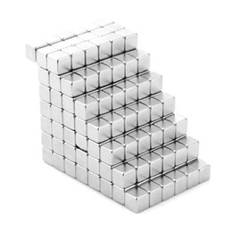 Wholesale 216 Magnets - Wholesale- 3mm Square Shaped Magnetic Cube 216 Square Magnets Magnetic Balls 3mm Magnet Beads Cubo Magico Silver